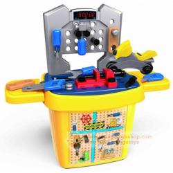 DIY BLOCK ชุดเครืองมือช่าง แบบบล๊อกตัวต่อ แบบ 27 ชิ้น Toolbox Set