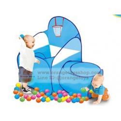 เต็นท์ชู๊ดบาส สำหรับเด็ก สีฟ้า แป้นชู๊ตแสนสนุก