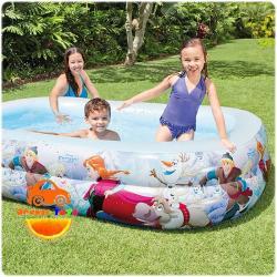 ( ขนาด 8.5 ฟุต )สระน้ำเป่าลม ลายโฟรเซ่น Swim Center FROZEN ขนาด 2.6 เมตร ทรงสี่เหลี่ยมผื่นผ้า ลิขสิทธิ์ถูกต้อง