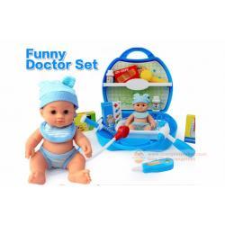 ( เครื่องมือหมอ ชุดหมอ ) กระเป๋าคุณหมอ พร้อมตุ๊กตา ของเล่นเสริมพัฒนาการสำหรับเด็ก DOCTOR SET 8329