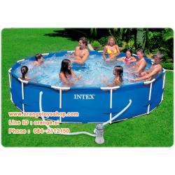 ( ขนาด 12 ฟุต ) สระน้ำขนาดใหญ่ METAL FRAME POOL SET (w/220-240V Filter Pump, DVD) [28212] สระเมทัลเฟรม 12 ฟุต เครื่องกรองระบบไส้กรอง (366 X 76 ซม.)