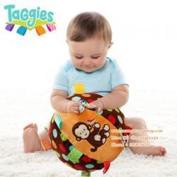 ของเล่นเด็กอ่อน บอลนิ่ม ยางกัด บอลผ้า แบบนิ่ม Taggies dazzle dots chime ball