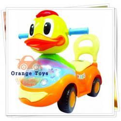 รถขาไถ หน้าเป็ด สีเหลือ-ส้ม มีเสียงเพลง