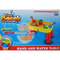 Sand and Water Table โต๊ะเล่นทรายเล็ก-มีฝาปิด-ถอดประกอบได้พร้อมอุปกรณ์-ขนาด-28x42x26-ซม