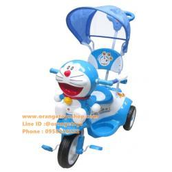 รถเข็นเด็ก + รถสามล้อ โดเรม่อน ลิขสิทธิ์แท้ มีเสียงเพลง เข็นบังคับทิศทางได้ ***(แบบหุ้มโครง)**