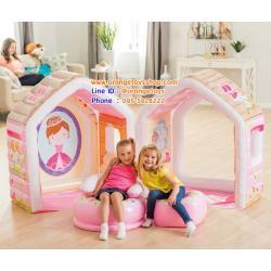 บ้านเจ้าหญิงเป่าลม พร้อมเก้าอี้เป่าลม Intex 48635 Princess Play House พร้อมที่สูบลมไฟฟ้า