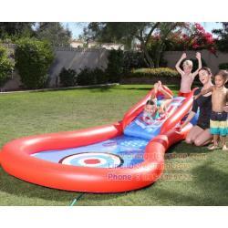 ( ขนาด 12 ฟุต ) สวนน้ำ สระน้ำเป่าลม สไลด์เดอร์ Bestway 53054 kids' play pool