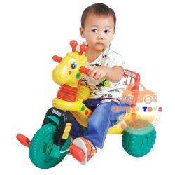 รถจักรยาน สามล้อเด็ก ยีราฟ สีเหลือง สามล้อยีราฟ