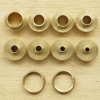 แหวนประครอง ชุด 8 ขนาด ทองเหลือง