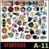 STSET022 (เซ็ต50ชิ้น) สติกเกอร์ ลายการ์ตูน กราฟิตี้ ติดรถยนต์, มอเตอร์ไซต์, จักรยาน, กระเป๋า, ติดผนัง ของใช้ต่างๆ สติกเกอร์PVCกันน้ำ ลายสวย เก๋ น่ารัก มีสไตล์ เท่ห์ ไม่ซ้ำใคร