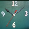 ชุดตัวเครื่องนาฬิกาญื่ปุนเดินเรียบ เข็มลายโมเดิน ขนาดยาว เข็มสั้น-เข็มยาวสีขาว เข็มวินาทีสีดำ อุปกรณ์ DIY