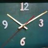ชุดตัวเครื่องนาฬิกาญื่ปุนเดินเรียบ เข็มลายโมเดิน ขนาดยาว เข็มสั้น-เข็มยาวสีทอง เข็มวินาทีสีแดง อุปกรณ์ DIY