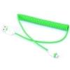 สายชาร์จ Micro usb แบบสายเกลียว สีเขียว