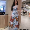 เดรสเกาหลี พร้อมส่ง Dress 3D ลายผีเสื้อ