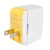 หัวปลั๊กชาร์จไฟ แบบมี Port USB 2 port รุ่น Remax Adapter 3.4A (2Port) สีขาว-เหลือง