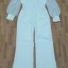 เสื้อผ้าเกาหลี พร้อมส่ง Jumpsuit ขายาว แขนชีทรู