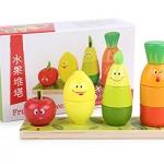 ของเล่นไม้ สวมหลักผลไม้