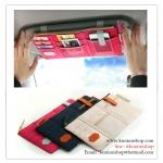 GL202 กระเป๋าใส่ของใช้ สวมกับที่บังแดดรถยนต์ มีช่องใส่ของ ใส่บัตรต่างๆ 3 สี : สีครีม , สีแดงเลือดหมู , สีกรมท่า ขนาด : กว้าง 27 x สูง 11 cm.