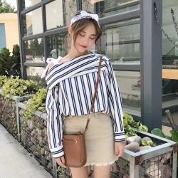 New !!! เสื้อโชว์ไหล่ ผูกโบว์ สไตล์เกาหลี น่ารักมากๆๆค่า