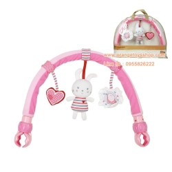 โมบายหนีบรถเข็น โมบาย sozzy สีชมพู โมบายหนีบรถเข็น Travel Arch รุ่น Bunny