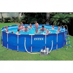 ( ขนาด 18 ฟุต )METAL FRAME POOL SET สระน้ำขนาดใหญ่ 18 ฟุต Intex Metal Frame Pool 28252