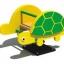 โยกเยกสปริงเต่าเขียว SIZE:39X70X68 cm. thumbnail 1