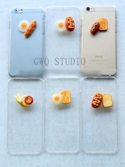 เคสไอโฟน/iPhone ตกแต่งเมนูเช้า breakfast มี6แบบ