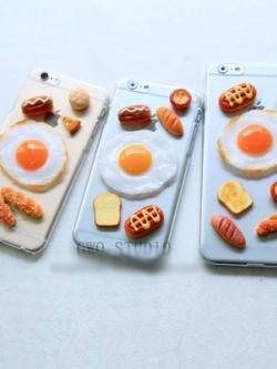 เคสไอโฟน/iPhone แนว breakfast สามมิติ มี3แบบ
