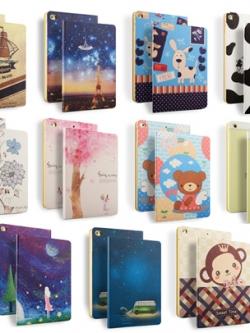 เคสไอแพด 5/6 AIR2 พิมพ์ลายการ์ตูน iPad Case มี11สี