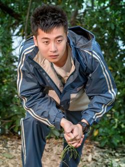 เสื้อกันฝนเกาหลี เสื้อแขนยาว+กางเกงขายาว แต่งแถบเส้นด้านข้าง มี2สี